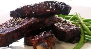 Caron's Famous BBQ Sauce on Ribs